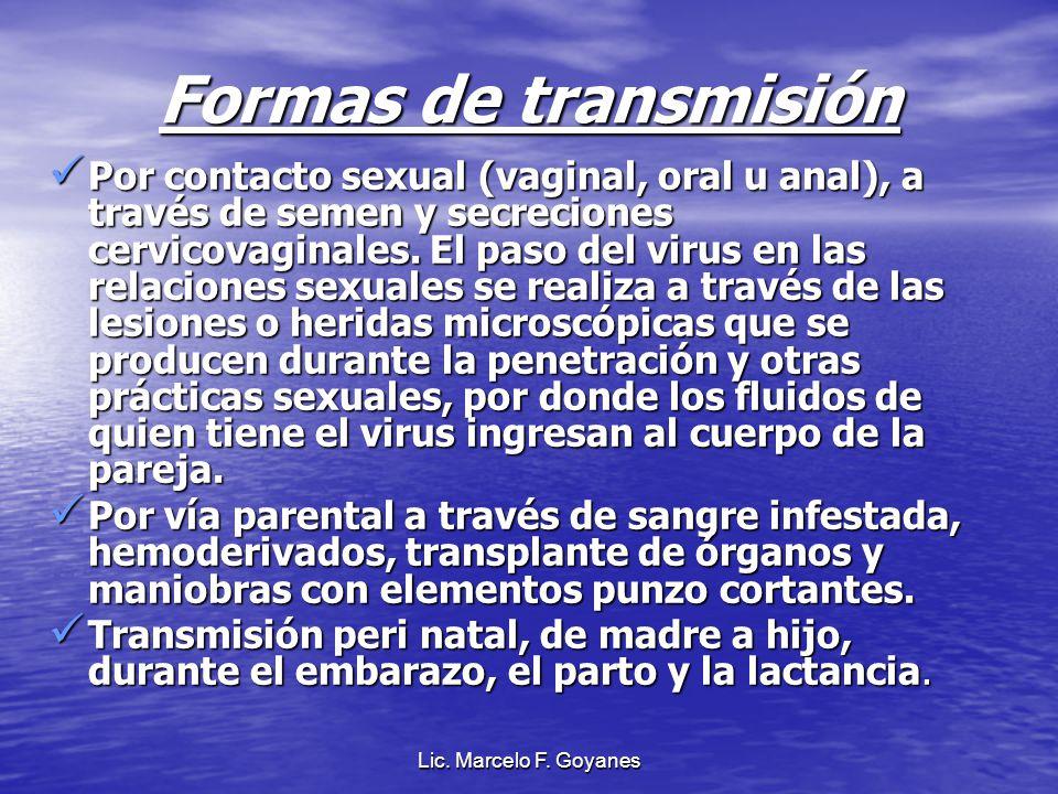 Formas de transmisión