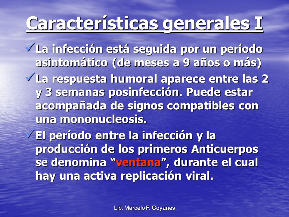 Características generales I