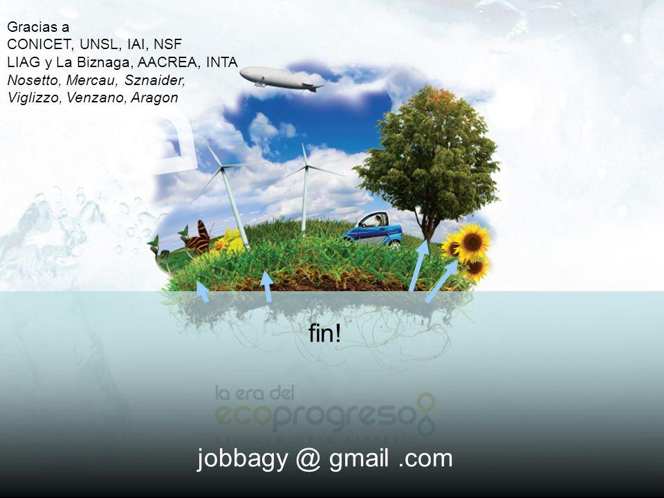 fin! jobbagy @ gmail .com Gracias a CONICET, UNSL, IAI, NSF