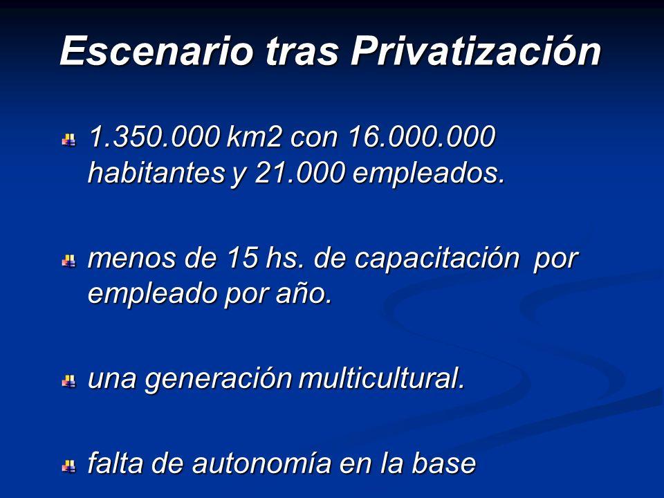 Escenario tras Privatización