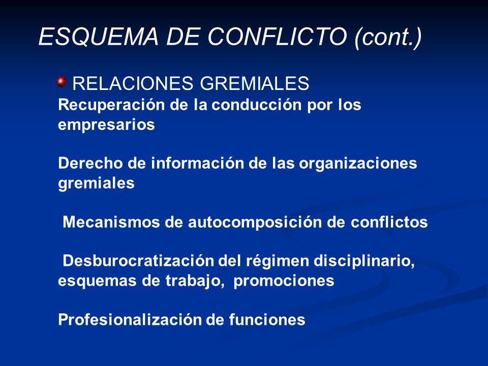 ESQUEMA DE CONFLICTO (cont.)
