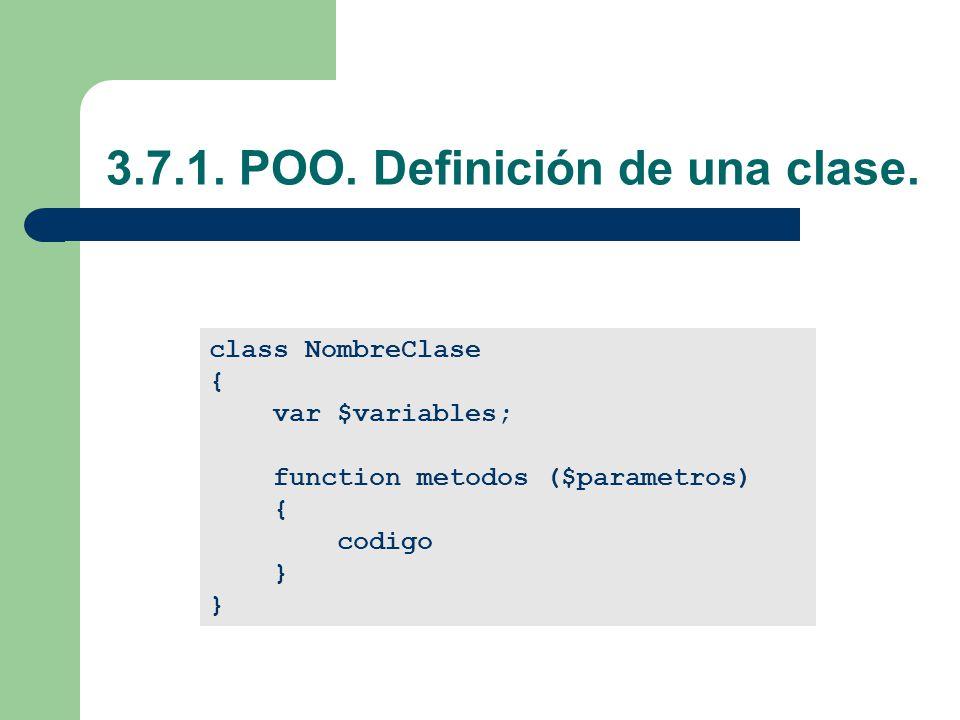 3.7.1. POO. Definición de una clase.