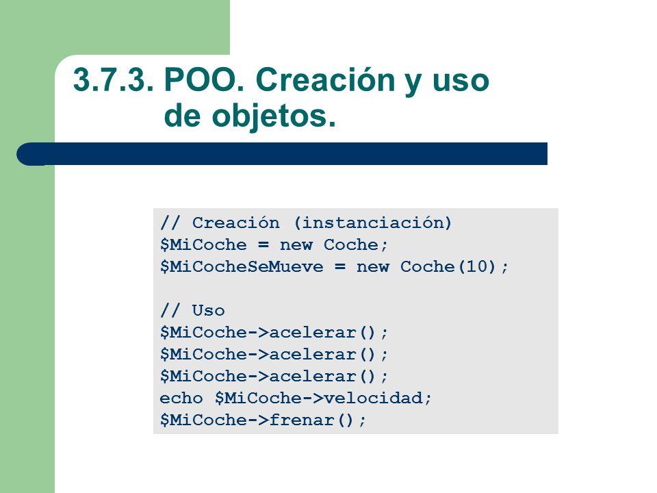 3.7.3. POO. Creación y uso de objetos.