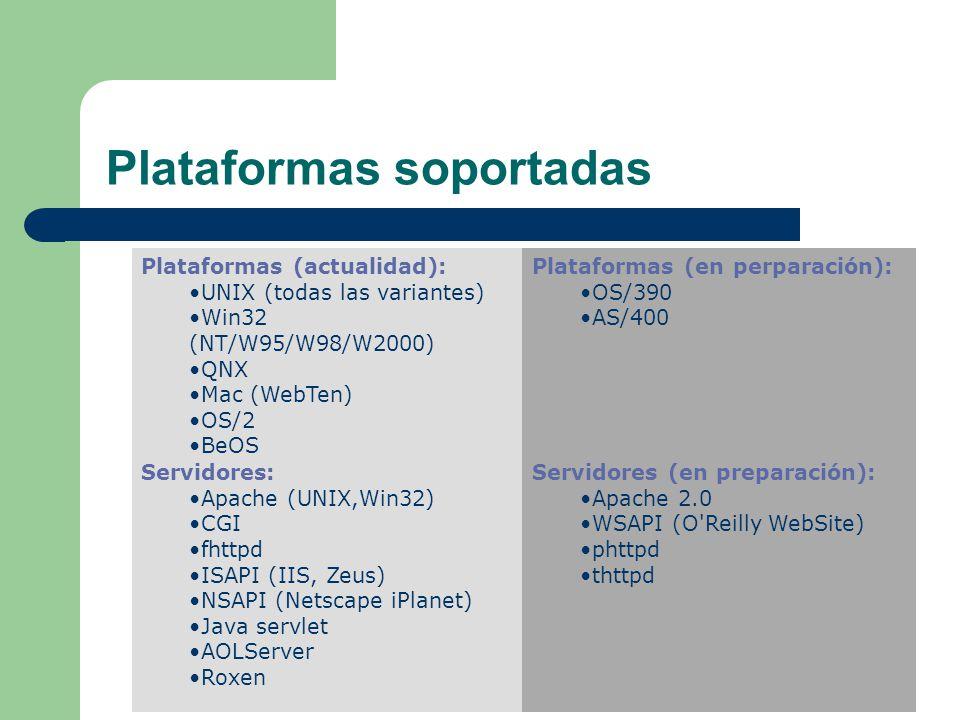 Plataformas soportadas