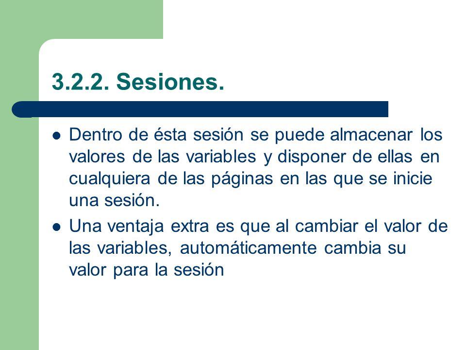 3.2.2. Sesiones.