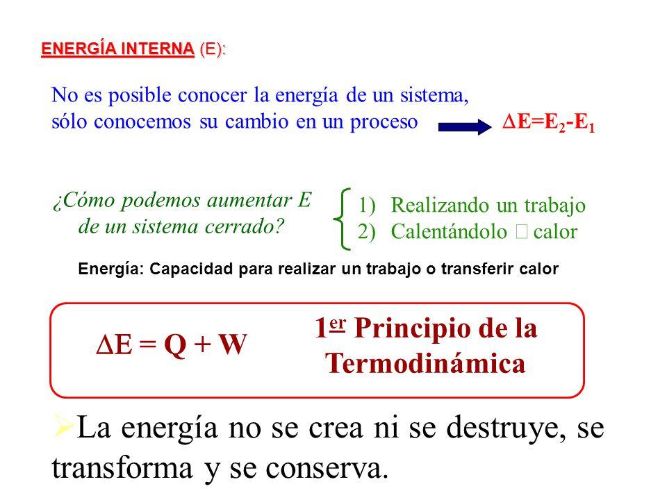 1er Principio de la Termodinámica
