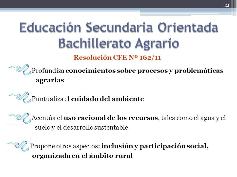 Educación Secundaria Orientada Bachillerato Agrario