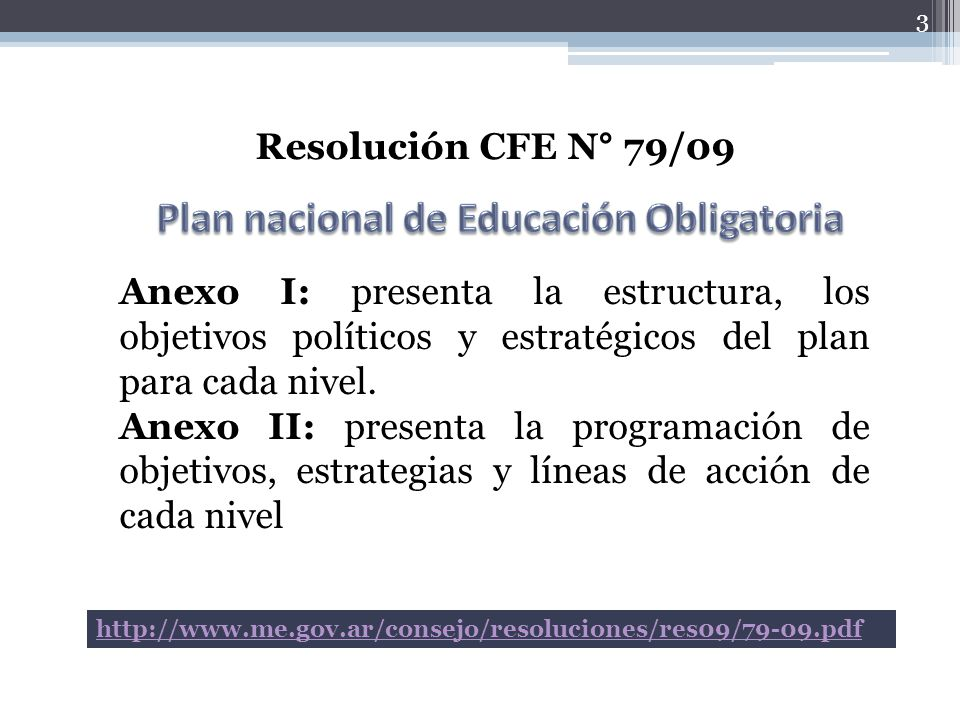 Plan nacional de Educación Obligatoria