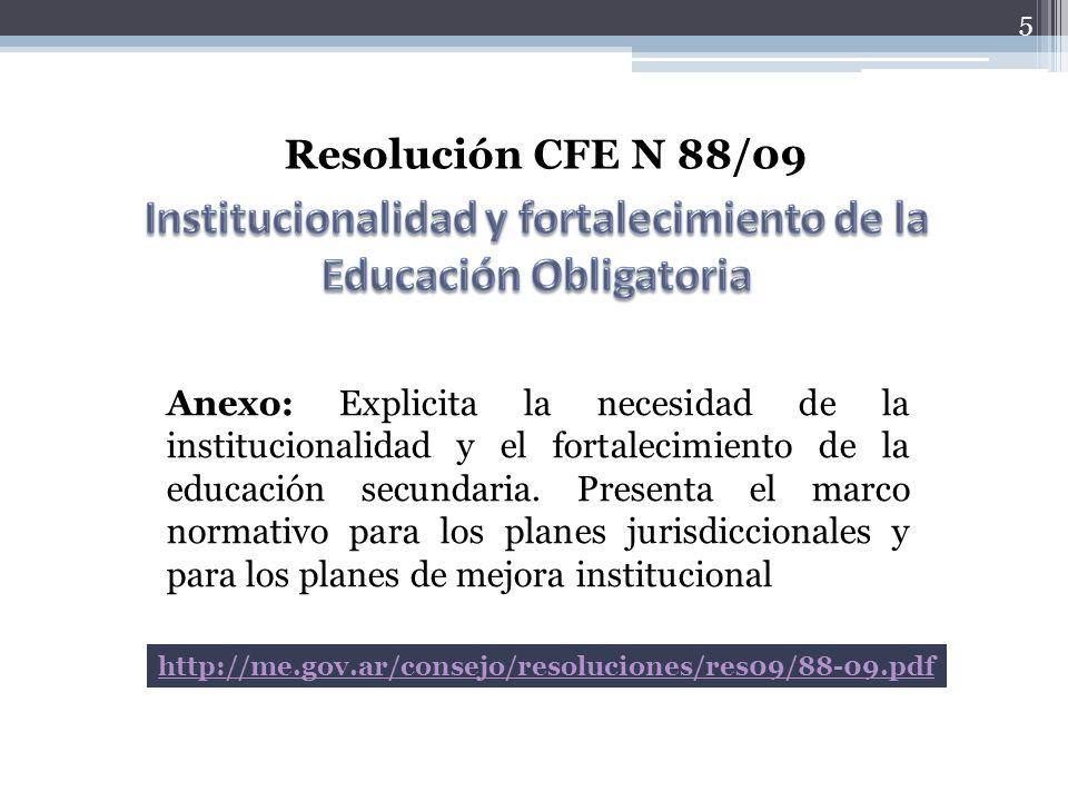 Institucionalidad y fortalecimiento de la Educación Obligatoria