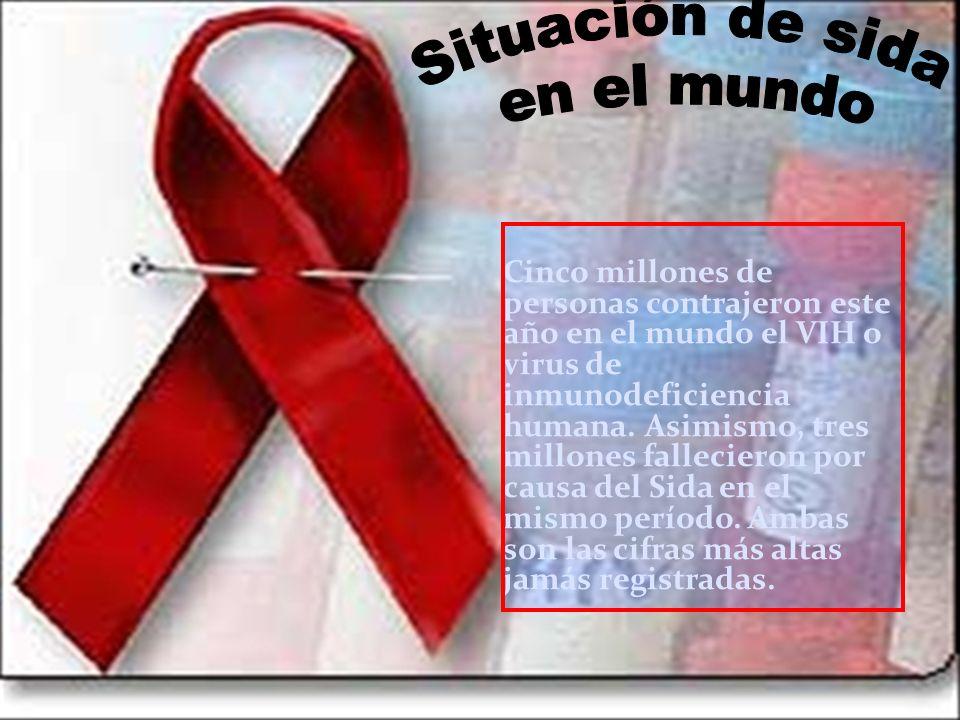 Situación de sida en el mundo