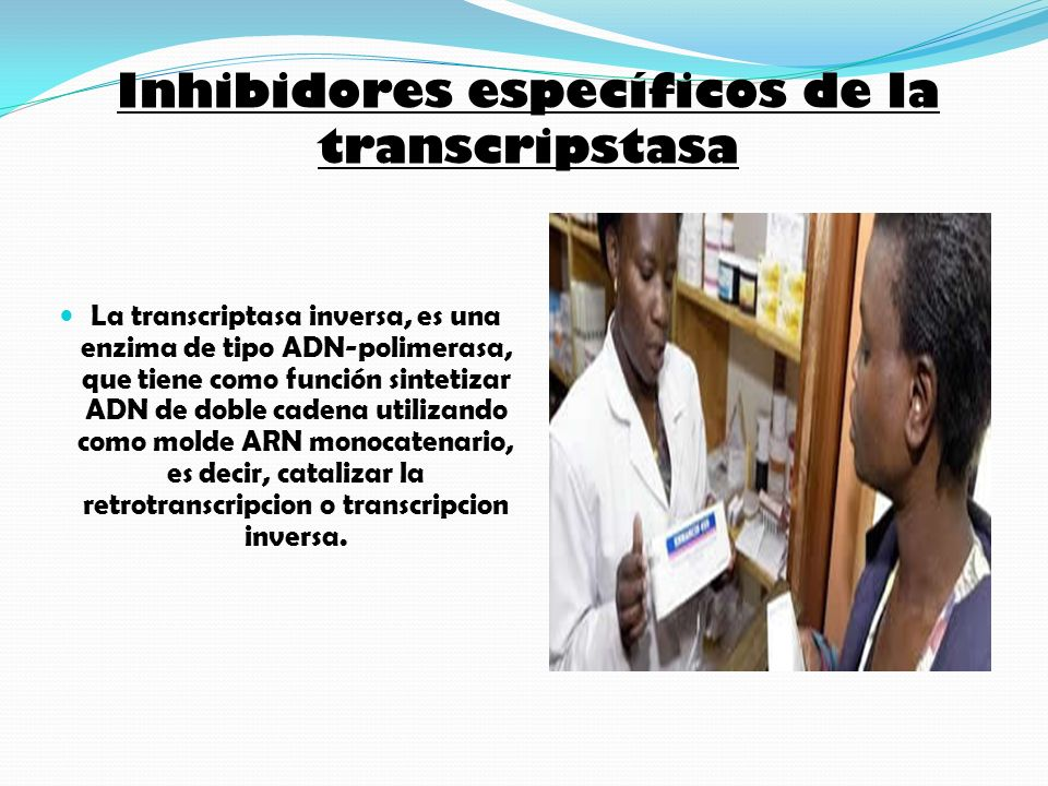 Inhibidores específicos de la transcripstasa