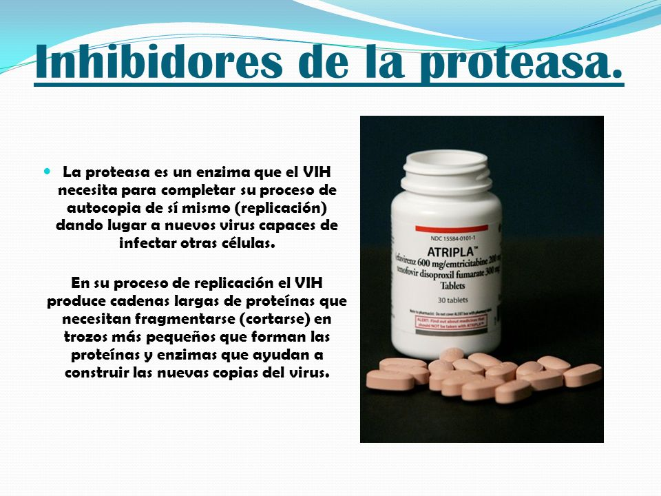 Inhibidores de la proteasa.