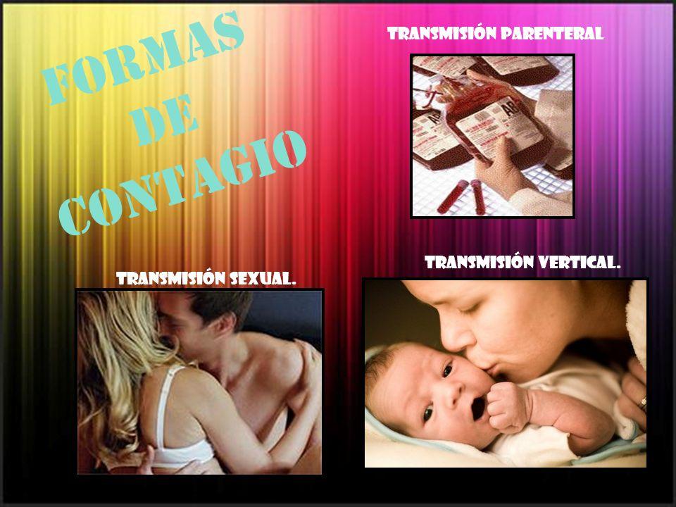 Formas de contagio Transmisión parenteral Transmisión vertical.