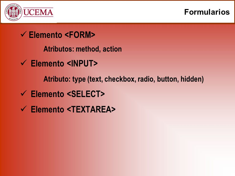 Elemento <FORM>