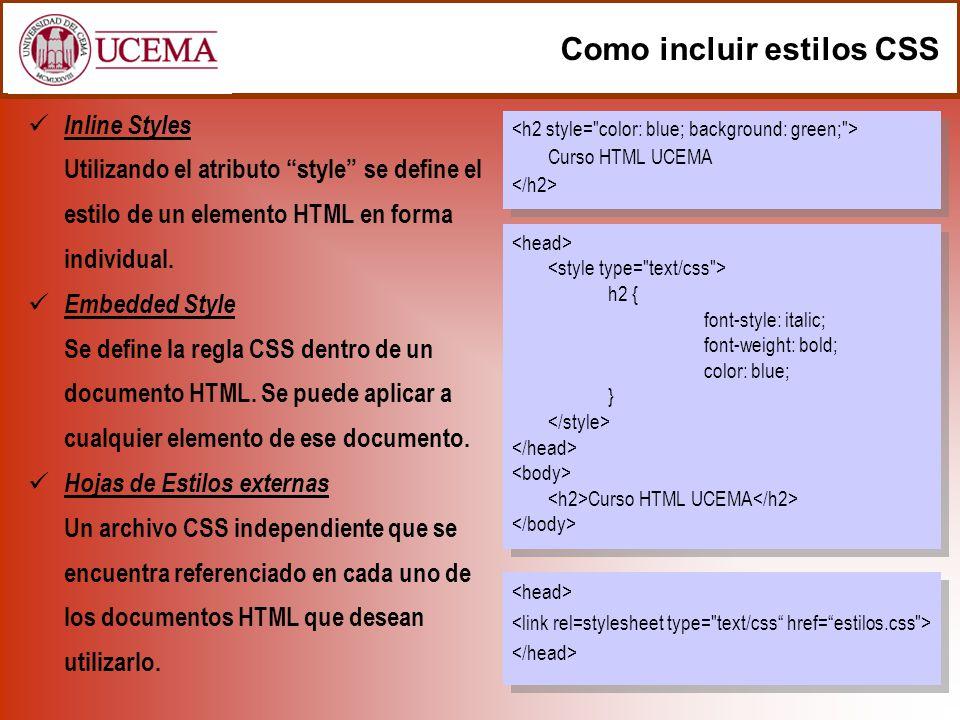 Como incluir estilos CSS
