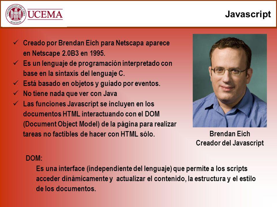 Creador del Javascript