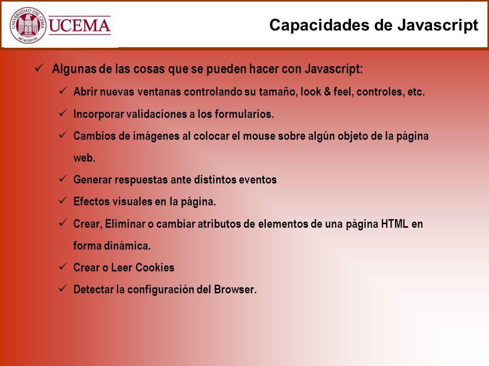 Capacidades de Javascript