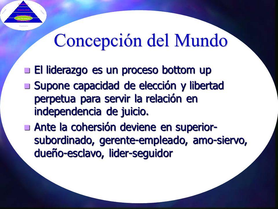 Concepción del Mundo El liderazgo es un proceso bottom up