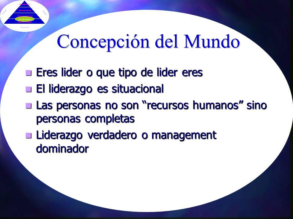 Concepción del Mundo Eres lider o que tipo de lider eres