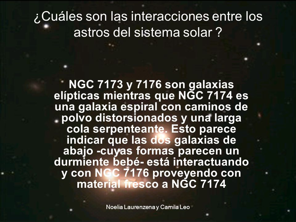 ¿Cuáles son las interacciones entre los astros del sistema solar