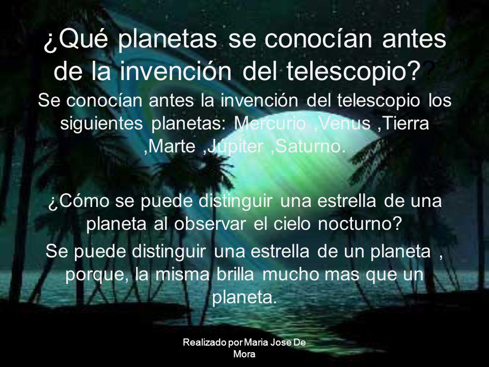 ¿Qué planetas se conocían antes de la invención del telescopio