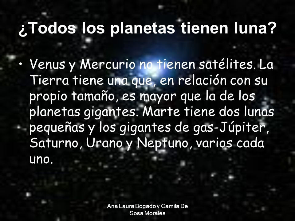 ¿Todos los planetas tienen luna