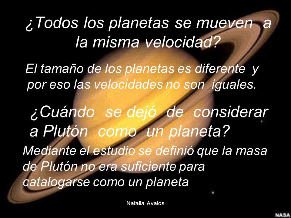 ¿Todos los planetas se mueven a la misma velocidad