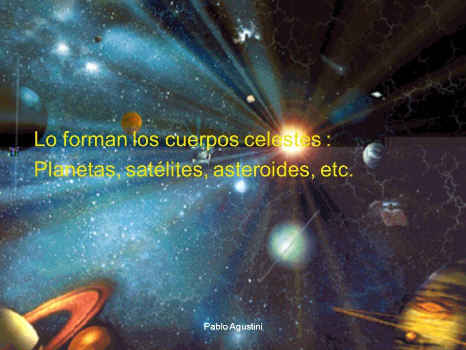 Lo forman los cuerpos celestes : Planetas, satélites, asteroides, etc.
