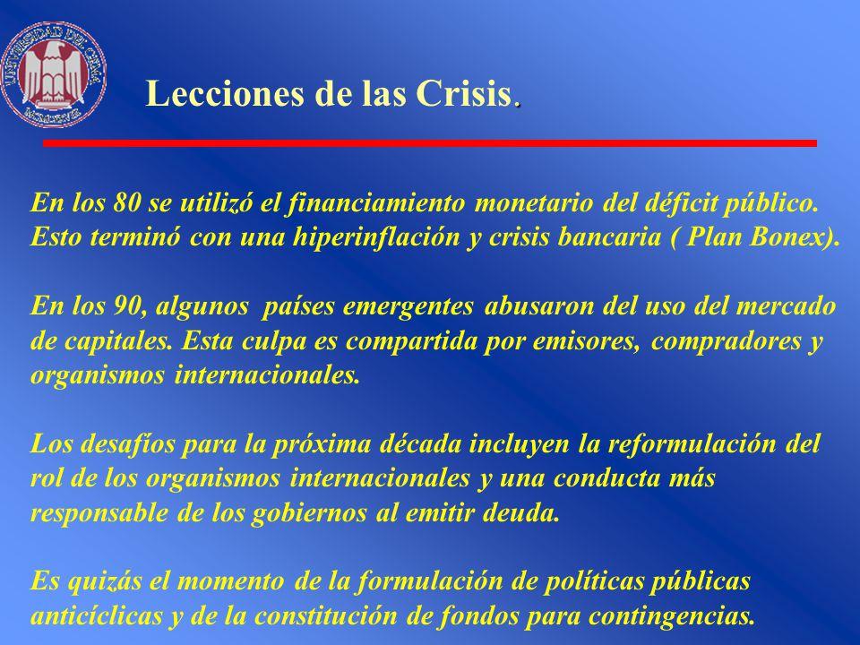 Lecciones de las Crisis.