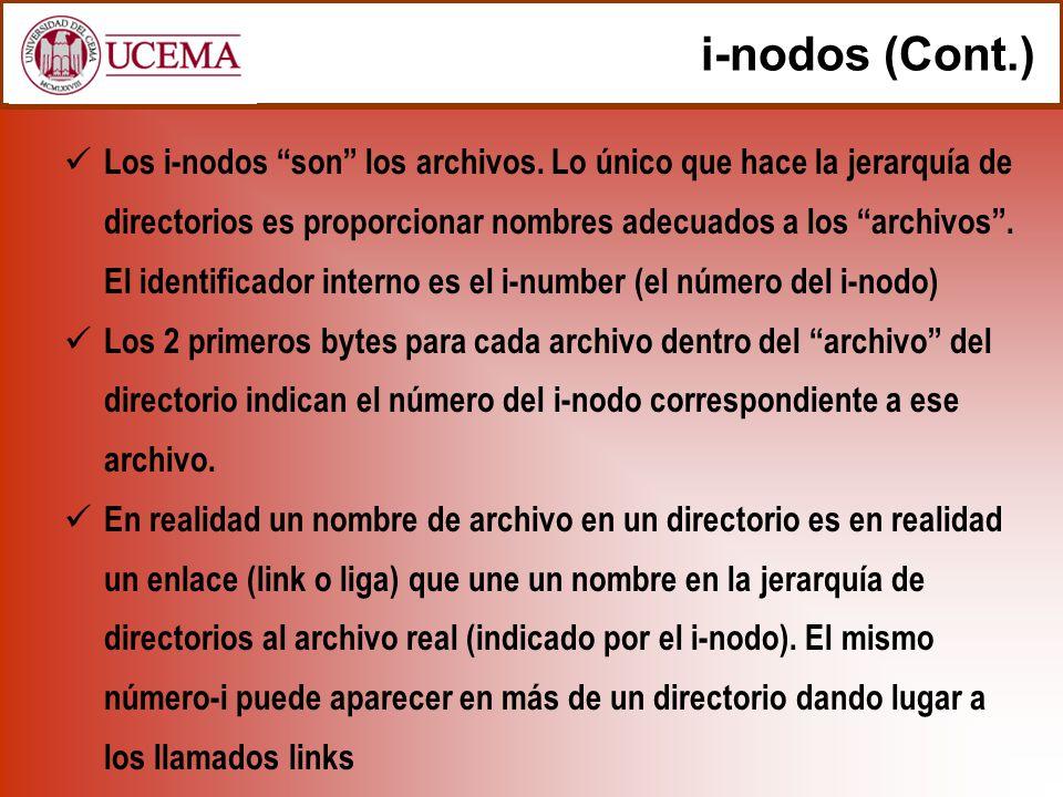 i-nodos (Cont.)