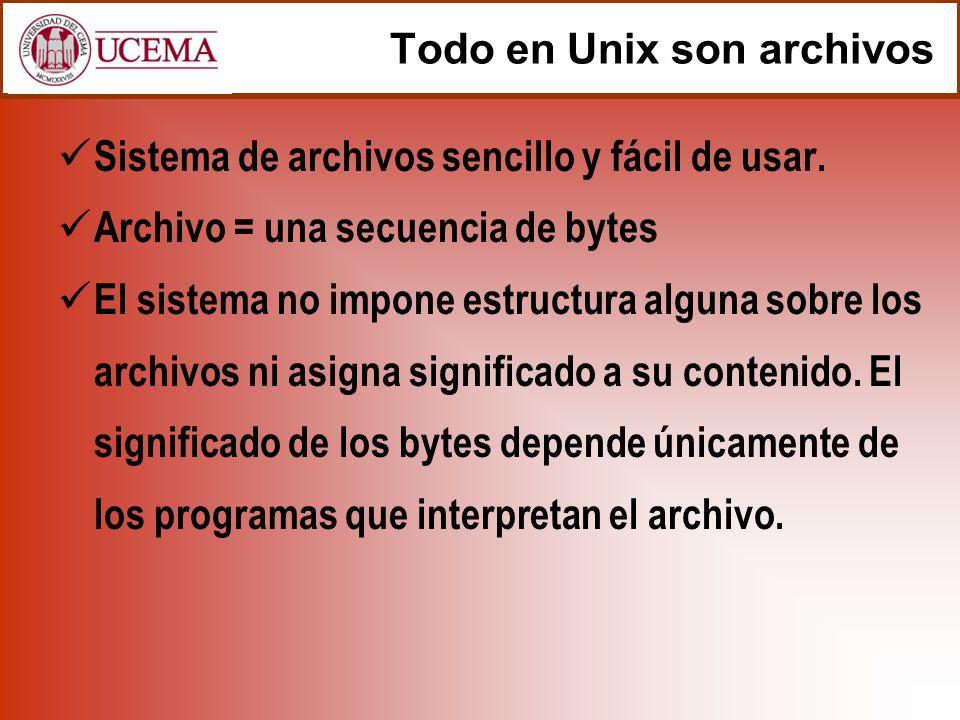 Todo en Unix son archivos