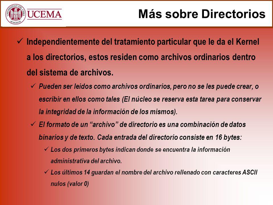Más sobre Directorios