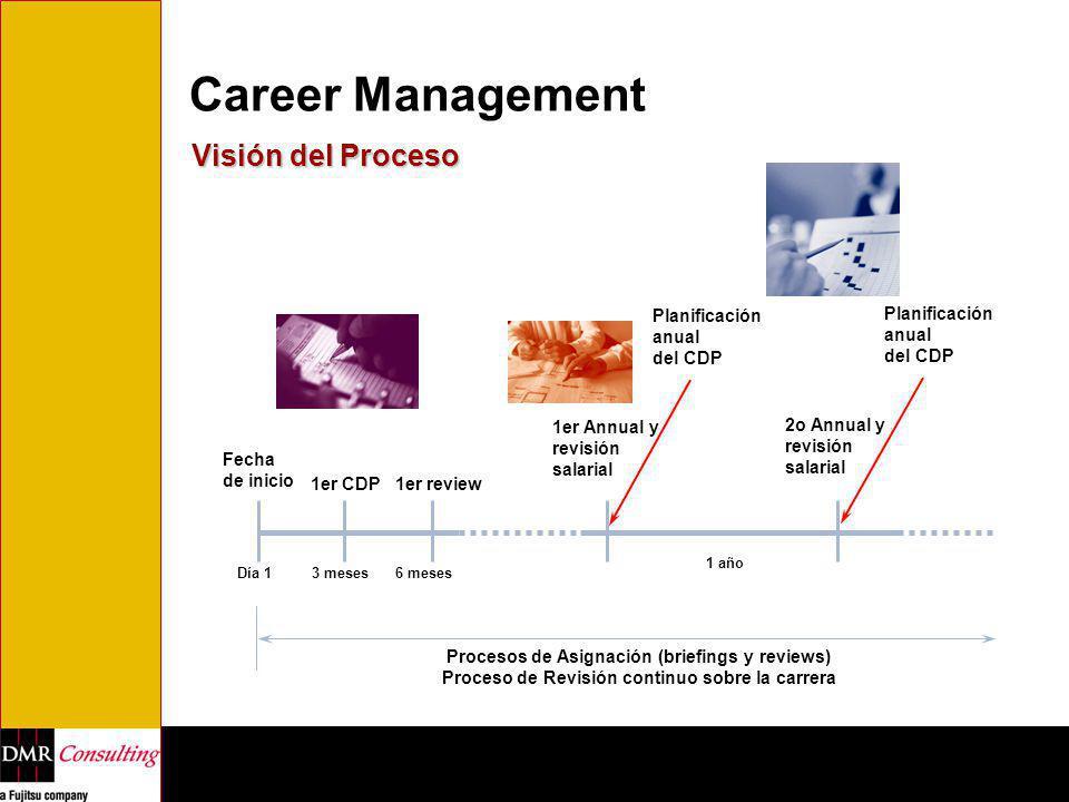 Career Management Visión del Proceso Planificación anual del CDP