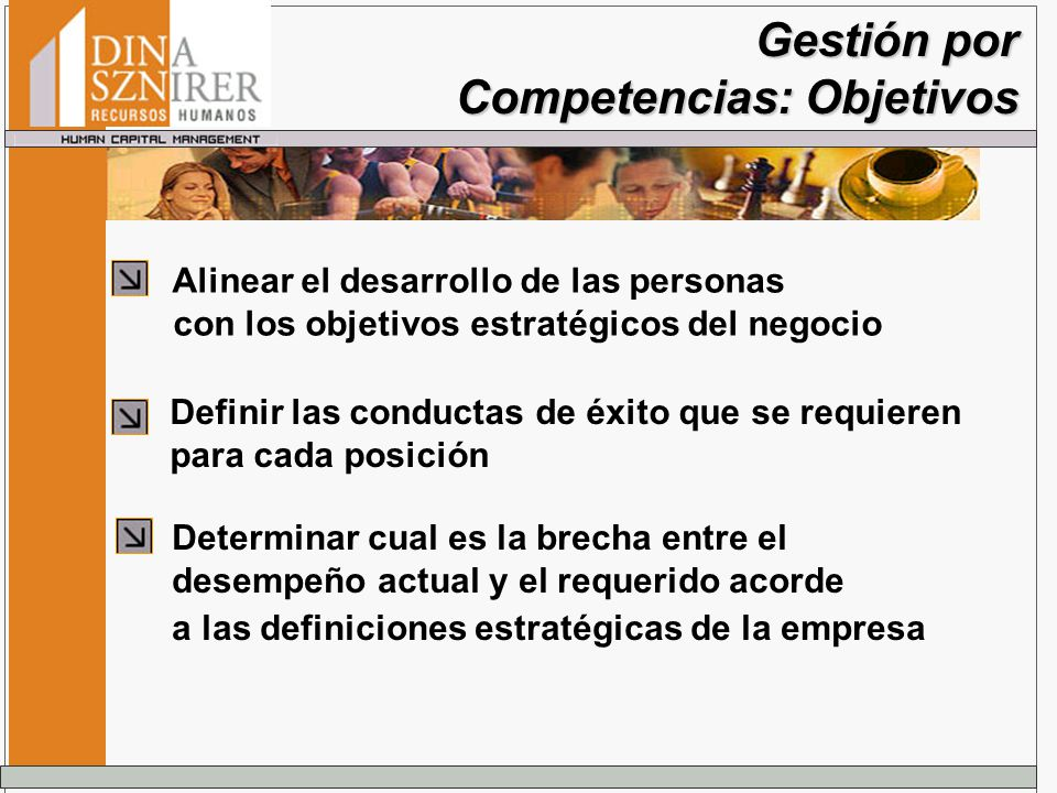 Gestión por Competencias: Objetivos