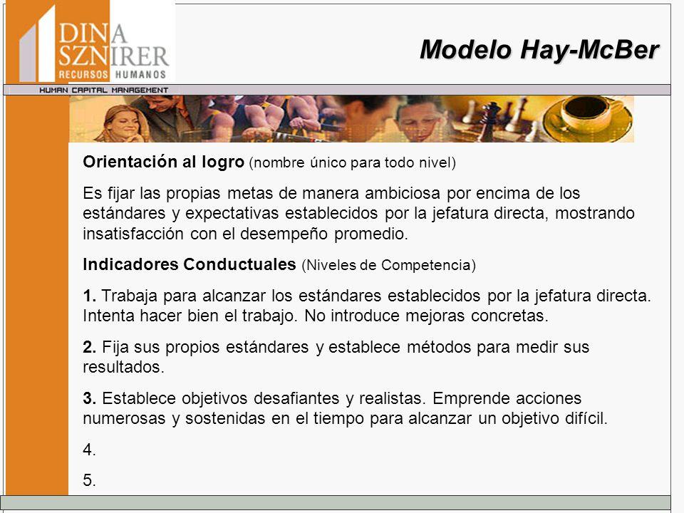 Modelo Hay-McBer Orientación al logro (nombre único para todo nivel)