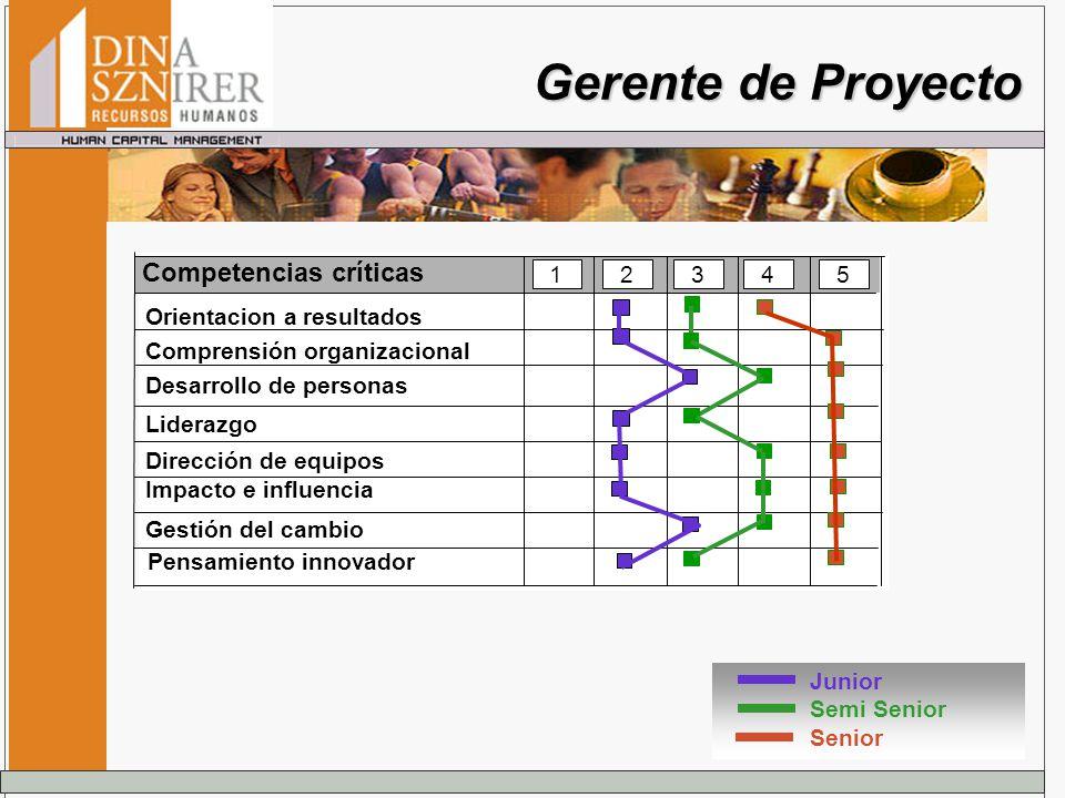 Gerente de Proyecto Competencias críticas 1 2 3 4 5