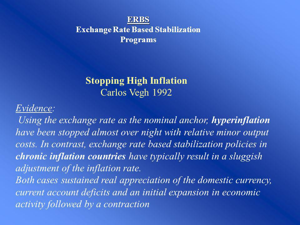 Exchange Rate Based Stabilization Programs
