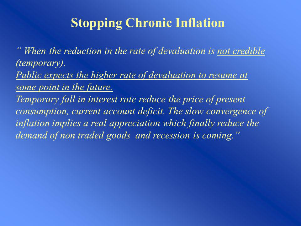 Stopping Chronic Inflation