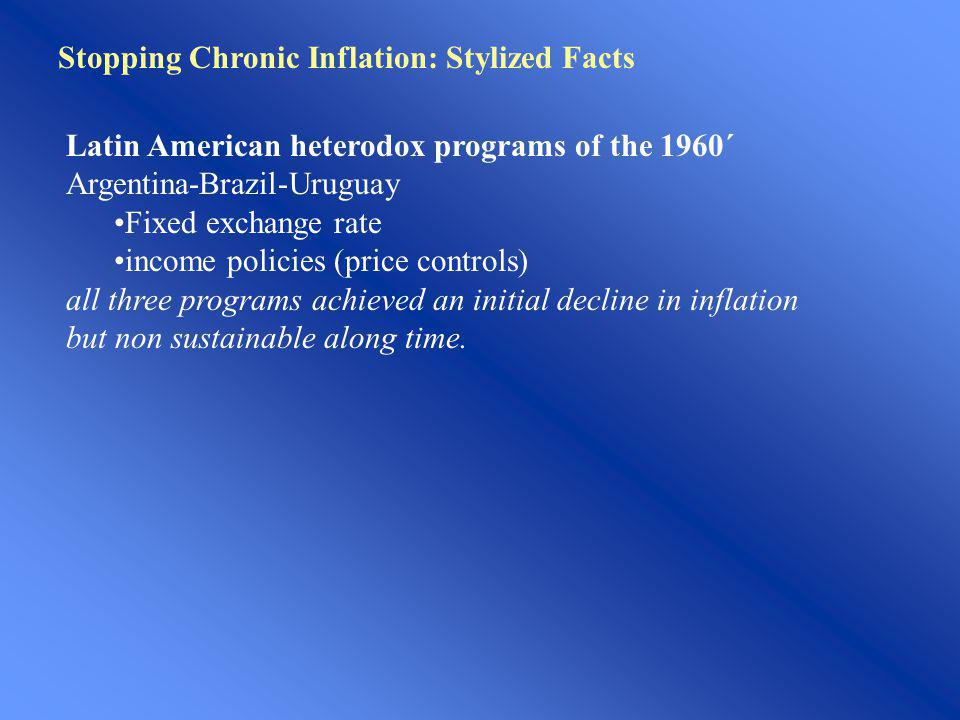 Stopping Chronic Inflation: Stylized Facts
