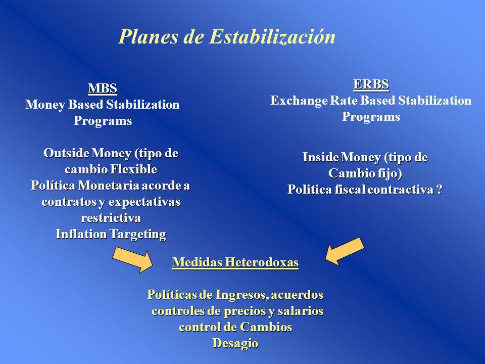 Planes de Estabilización