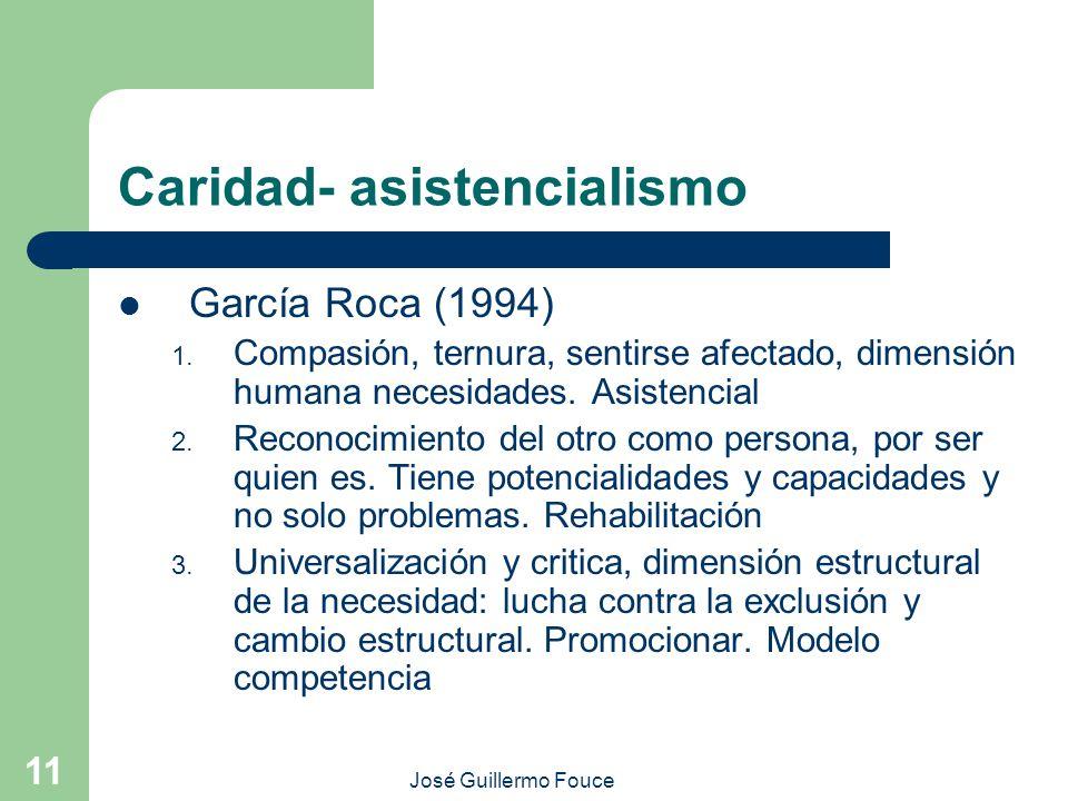 Caridad- asistencialismo