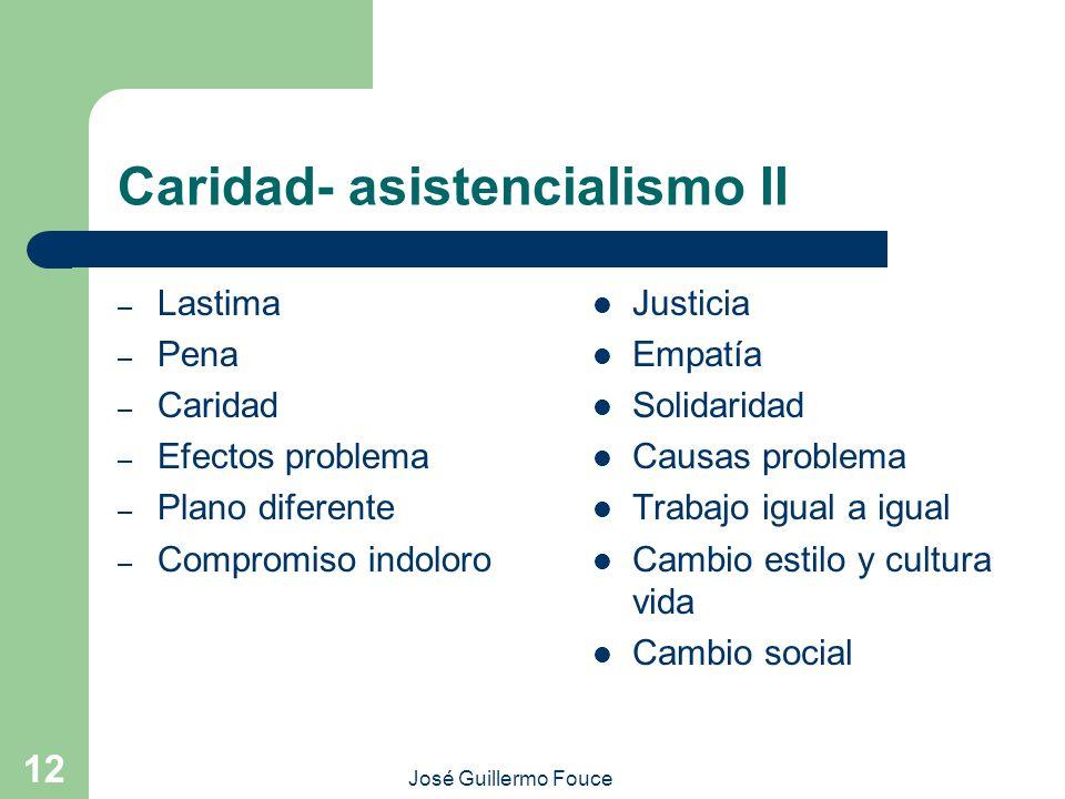 Caridad- asistencialismo II