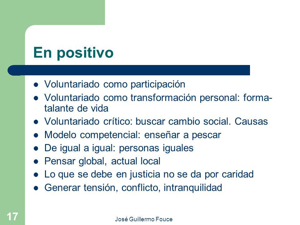 En positivo Voluntariado como participación