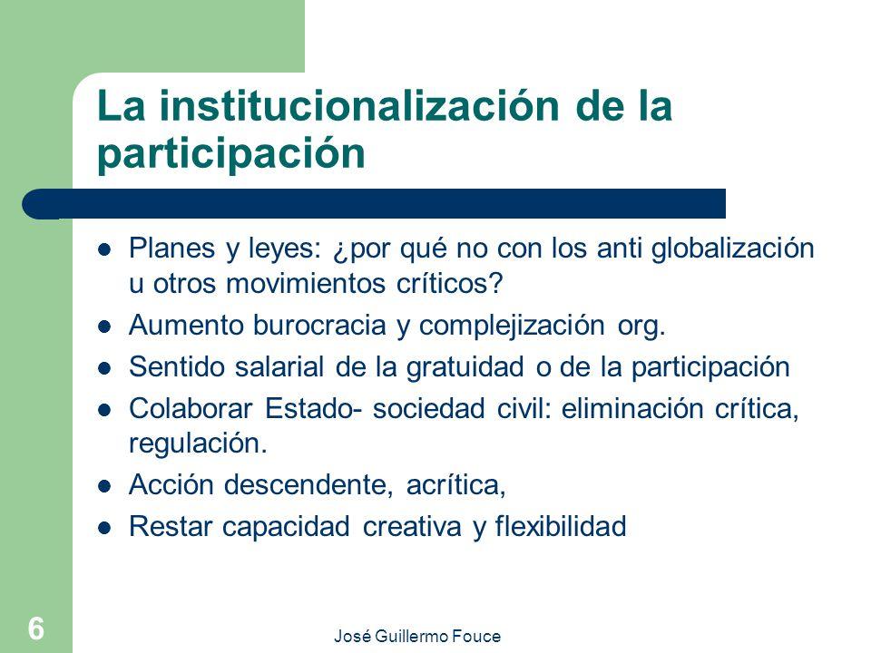 La institucionalización de la participación