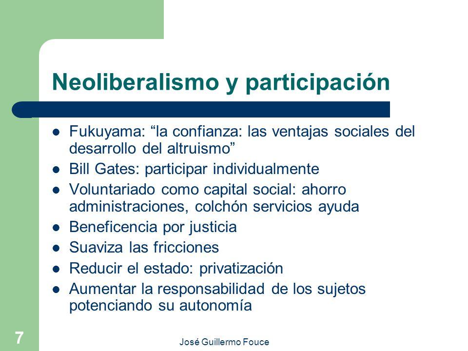Neoliberalismo y participación