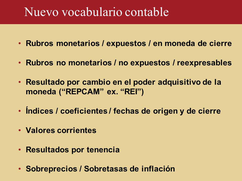 Nuevo vocabulario contable