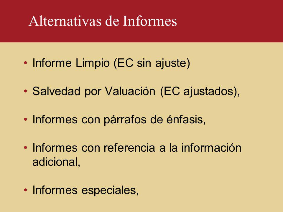Alternativas de Informes