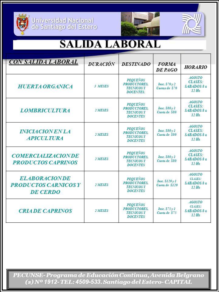 SALIDA LABORAL CON SALIDA LABORAL HUERTA ORGANICA LOMBRICULTURA