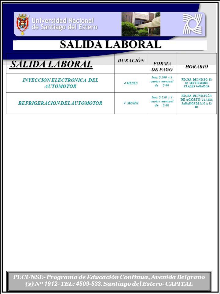 SALIDA LABORAL SALIDA LABORAL