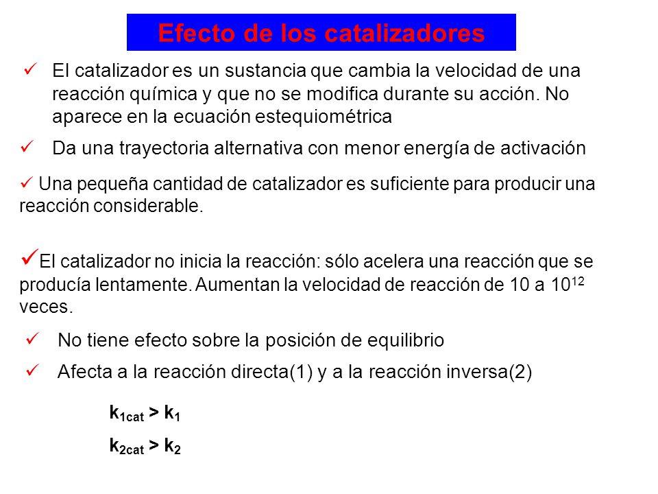 Efecto de los catalizadores